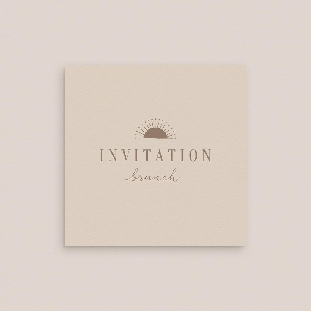 Carte invitation Brunch Soleil de minuit, brunch gratuit