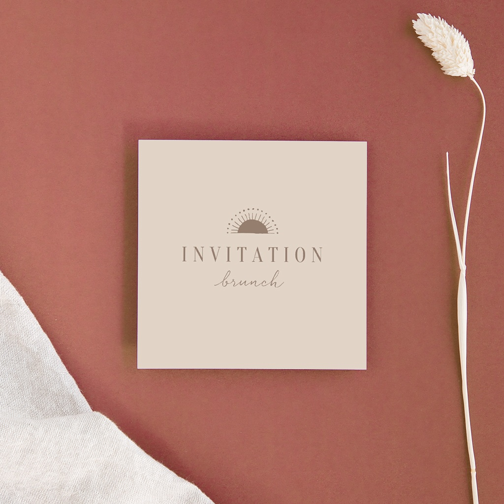 Carte invitation Brunch Soleil de minuit, brunch