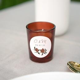 Etiquette enveloppes mariage Grenades Terracotta, sticker 4,5 cm gratuit