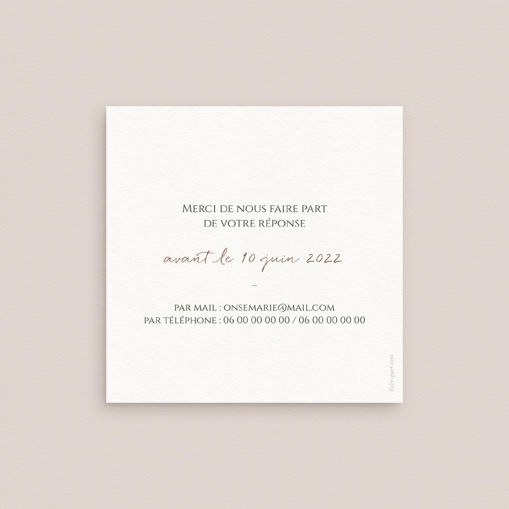 Carton réponse mariage Grenades Terracotta, Rsvp 10 x 10 cm pas cher