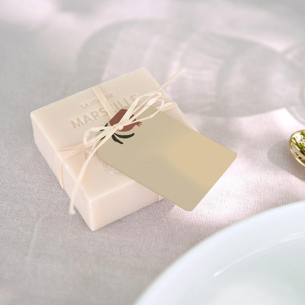 Marque-place mariage Grenades Terracotta, 4 x 6 cm