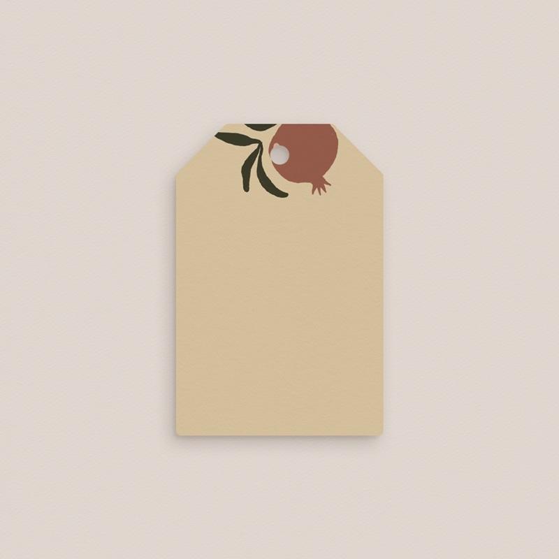 Marque-place mariage Grenades Terracotta, 4 x 6 cm gratuit