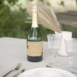 Etiquette bouteille mariage Grenades Terracotta, 13 x 8 cm gratuit