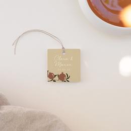 Etiquettes cadeaux mariage Grenades Terracotta, Souvenir