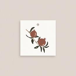 Etiquettes cadeaux mariage Grenades Terracotta, Souvenir pas cher