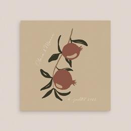 Faire-part de mariage Grenades Terracotta, 14 x 14 cm