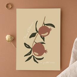 Faire-part de mariage Grenades Terracotta, 15 x 21 cm