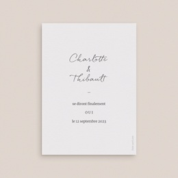 Change the date mariage Perfect Day Kraft, Date reportée pas cher