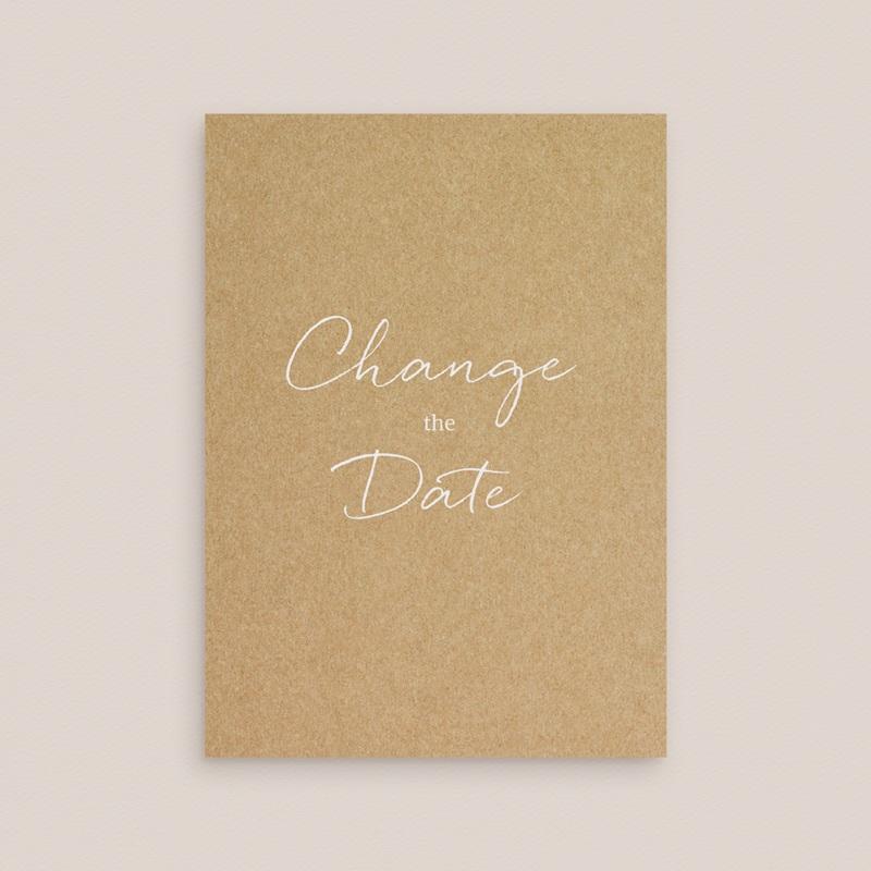 Change the date mariage Perfect Day Kraft, Date reportée gratuit