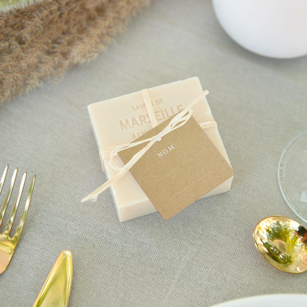 Marque-place mariage Perfect Day Kraft, invité placé