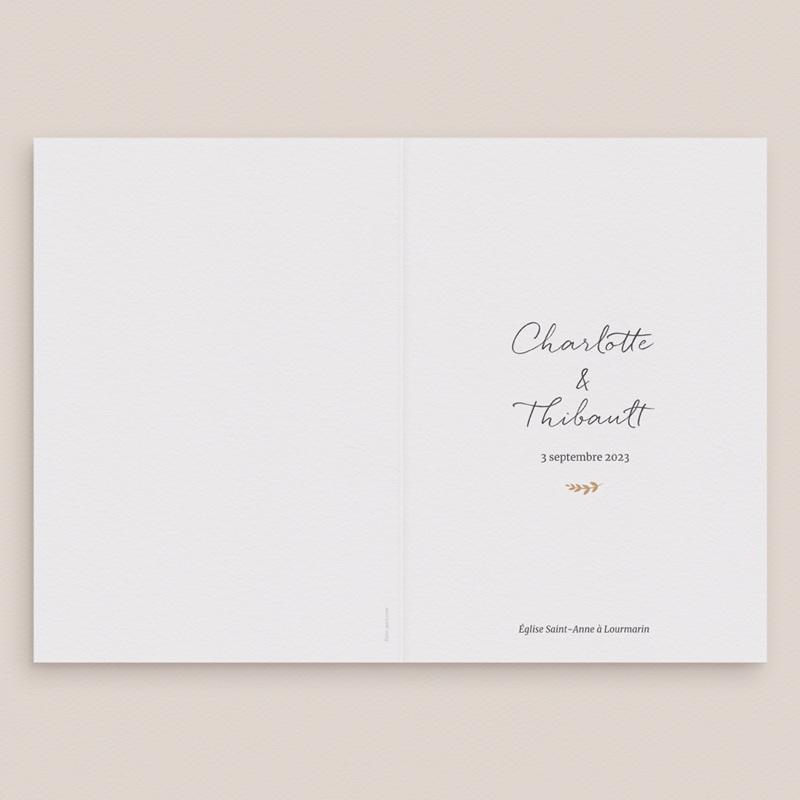 Livret de messe mariage Perfect Day Kraft, 15 x 22 cm gratuit