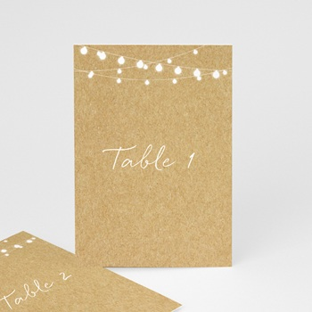 Marque table mariage Perfect Day Kraft, Lot de 3