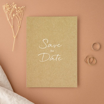 Save-the-date mariage Perfect Day Kraft, Jour J