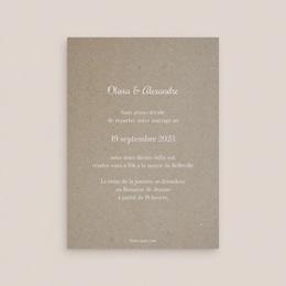 Change the date mariage Couronne Olivier Naturel, 10 x 14 cm pas cher