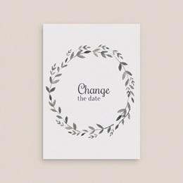 Change the date mariage Couronne Olivier Naturel, 10 x 14 cm gratuit