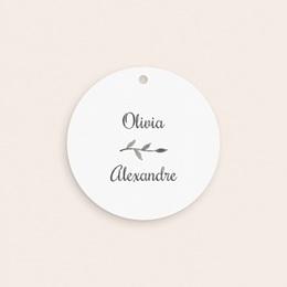 Etiquettes cadeaux mariage Couronne Olivier Naturel, cadeau invités gratuit