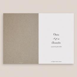 Livret de messe mariage Couronne Olivier Naturel, couverture gratuit