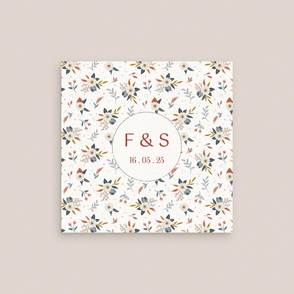 Carton réponse mariage Liberty Rouge, Rsvp, 10x10 cm gratuit