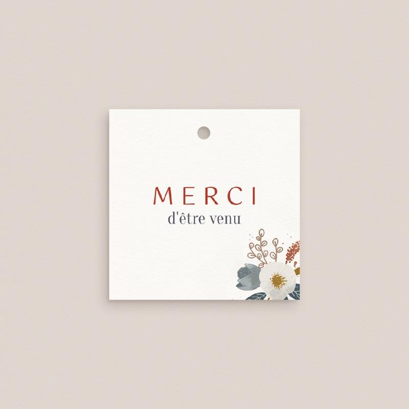 Etiquettes cadeaux mariage Liberty Rouge, Souvenir Invité gratuit