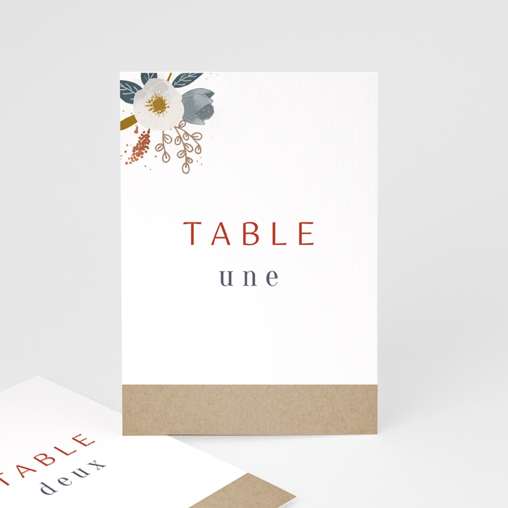 Marque table mariage Liberty Rouge, Lot de 3 repères