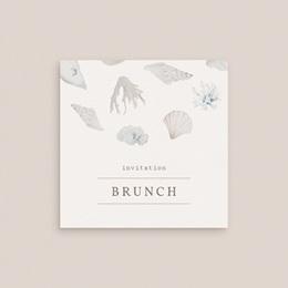 Carte invitation Brunch Coquillages & coraux Aquarelle, Brunch gratuit