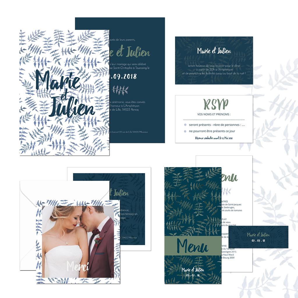 Carte d'invitation mariage Wild Love gratuit