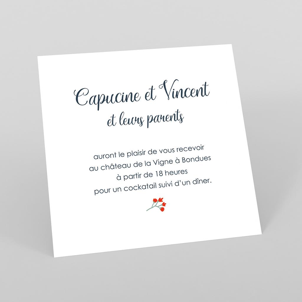 Carte d'invitation mariage Poppy