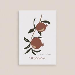 Carte de remerciement mariage Grenades Terracotta, 10,5 x 15 cm gratuit