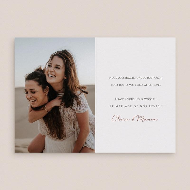 Carte de remerciement mariage Grenades Terracotta, 10,5 x 15 cm