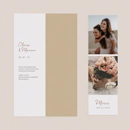 Carte de remerciement mariage Grenades Terracotta, 2 en 1, 2 photos pas cher