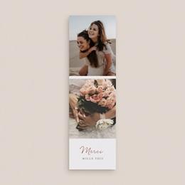 Carte de remerciement mariage Grenades Terracotta, 2 en 1, 2 photos gratuit