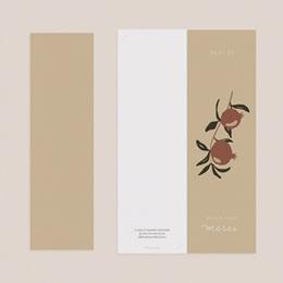 Carte de remerciement mariage Grenades Terracotta, 2 en 1, 2 photos