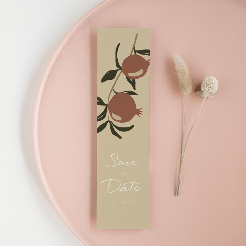 Save-the-date mariage Grenades Terracotta, pense-bête