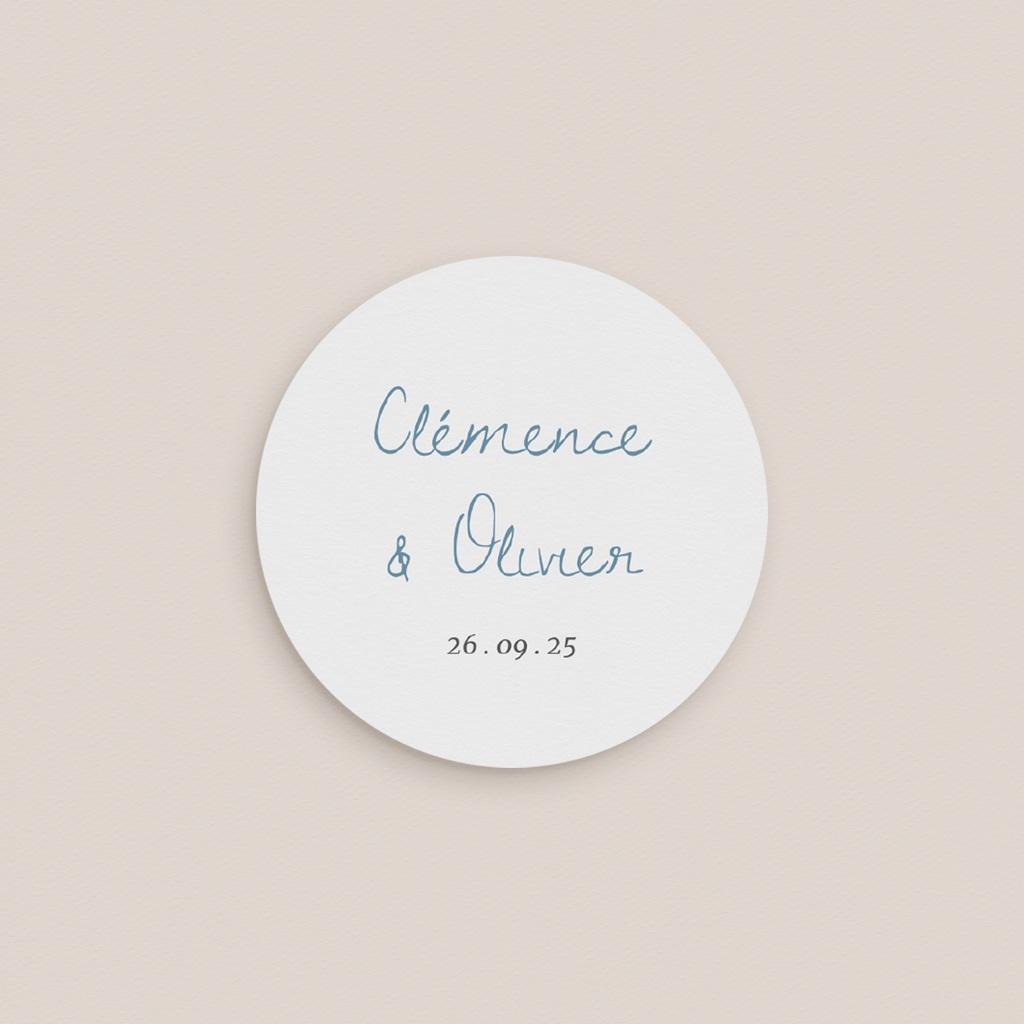 Etiquette enveloppes mariage Épousailles en famille, 4,5 cm pas cher