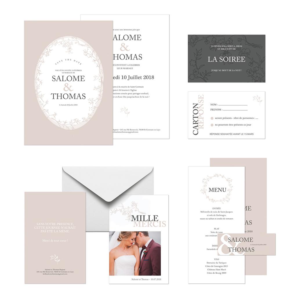 Carte d'invitation mariage Nude gratuit
