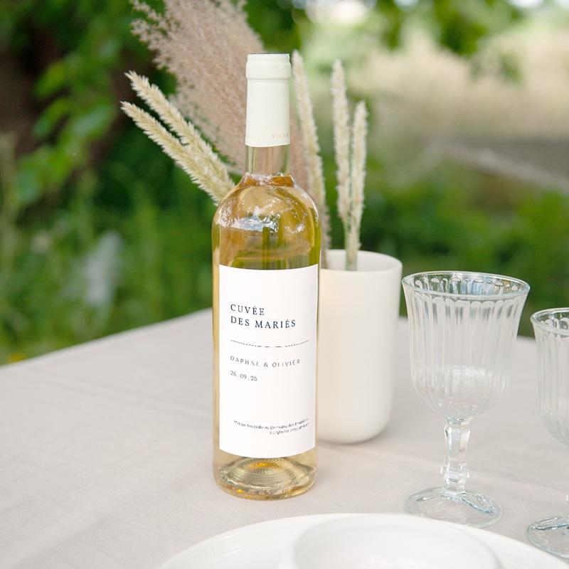 Etiquette bouteille mariage Les Noces d'une Tribu, vin
