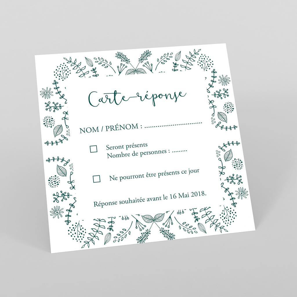 Carton réponse mariage Darjeeling
