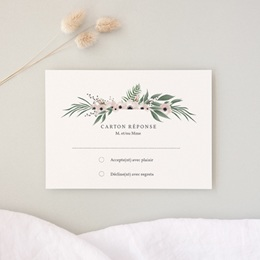 Carton réponse mariage Fleurs et végétaux