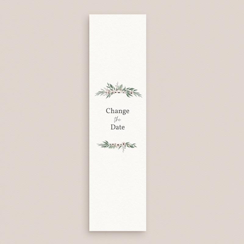 Change the date mariage Champêtre, format marque-page gratuit
