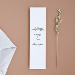 Change the date mariage Champêtre, format marque-page