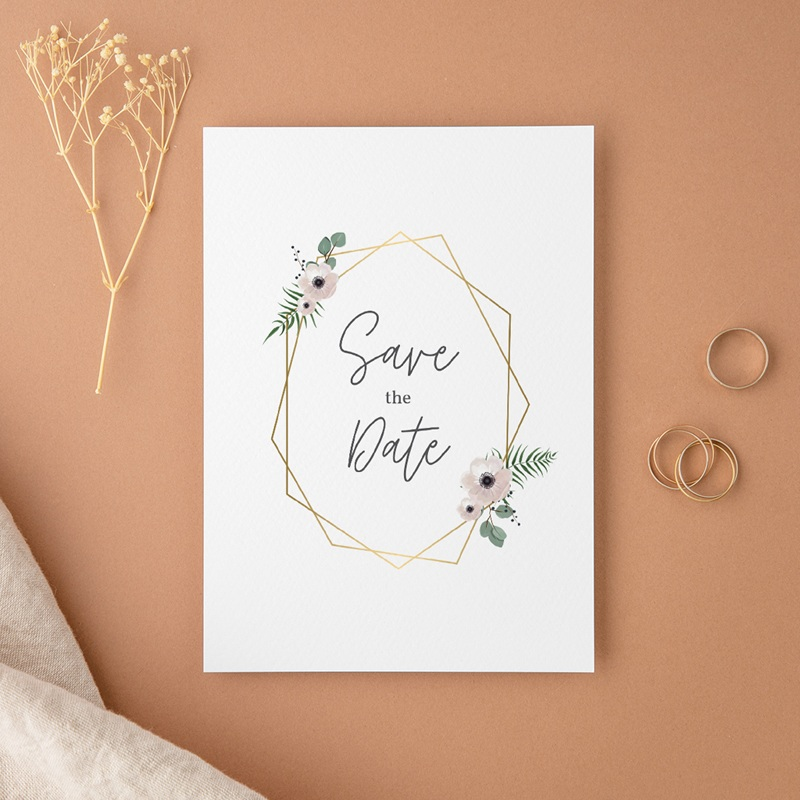Save-the-date mariage Champêtre