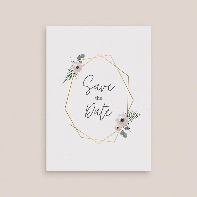 Save-the-date mariage Champêtre gratuit