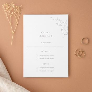 Carton réponse mariage moderne