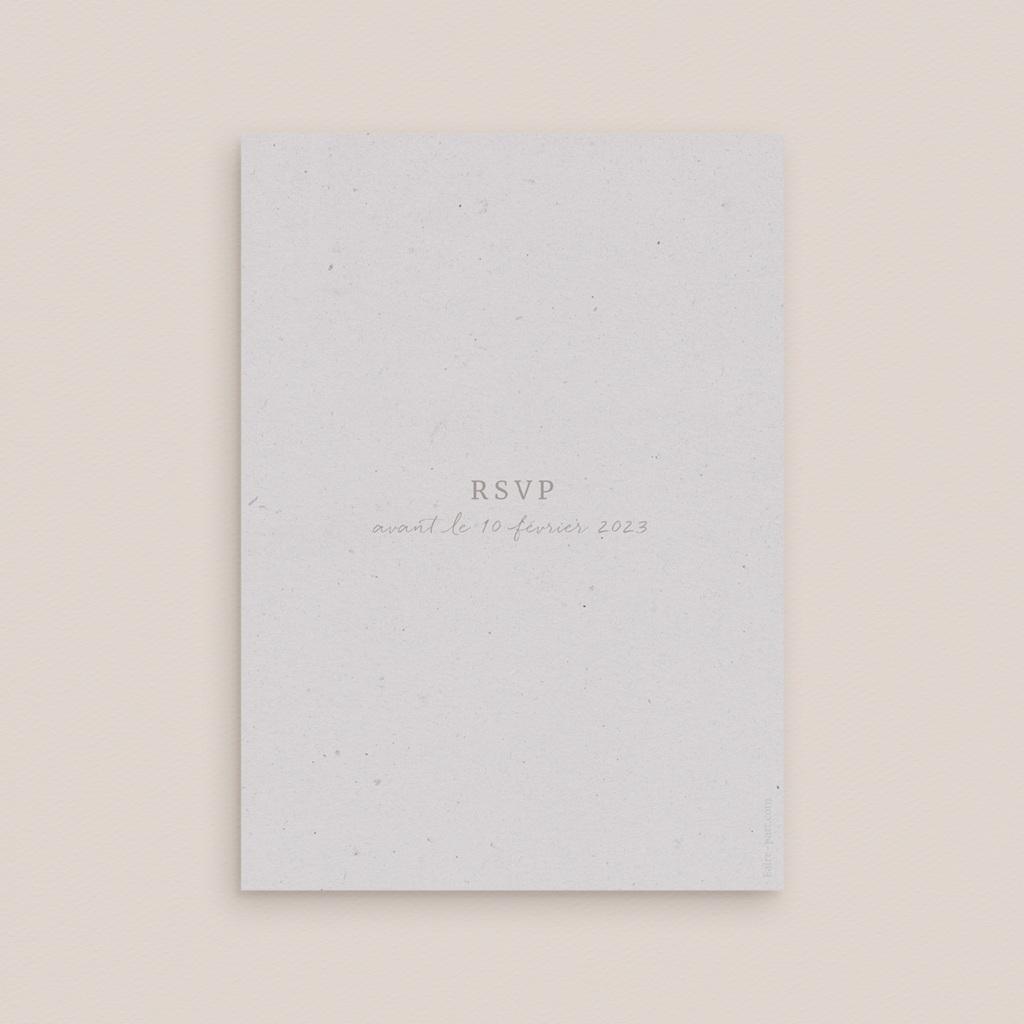 Carton réponse mariage Kinfolk, Rsvp pas cher