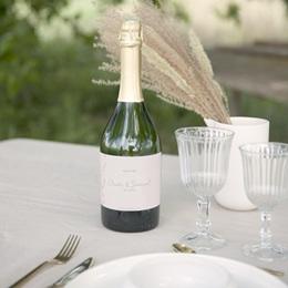 Etiquette bouteille mariage Kinfolk, Champagne ou Vin gratuit