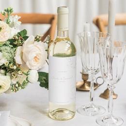 Etiquette bouteille mariage Kinfolk, Vin ou Eau