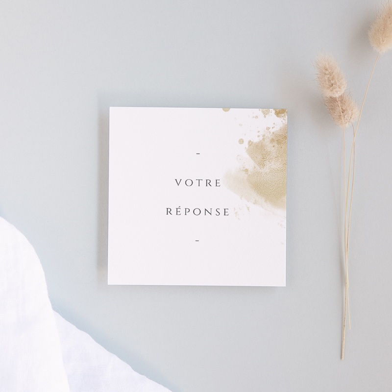 Carton réponse mariage Provence Champêtre, Rsvp