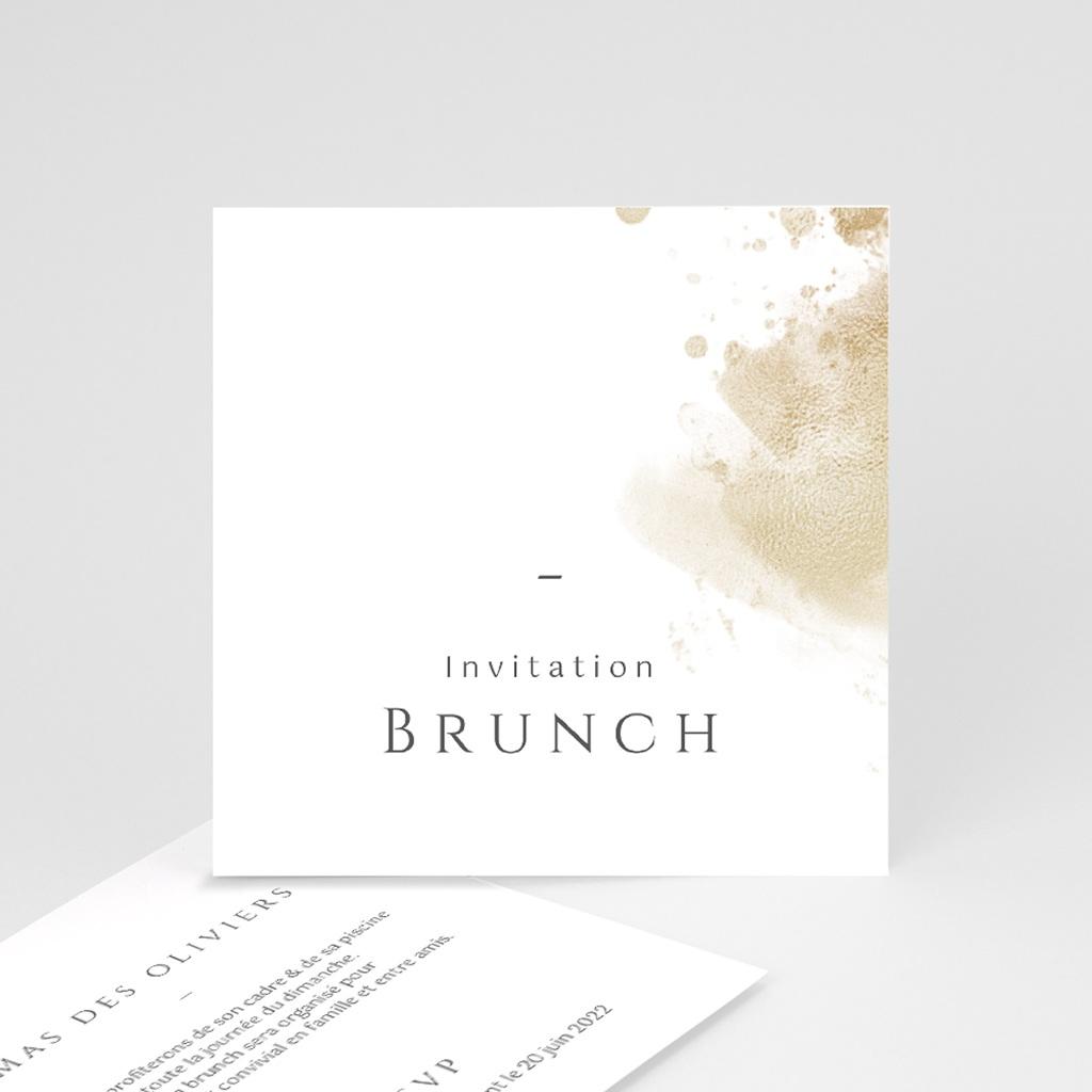 Carte invitation Brunch Provence Champêtre, Brunch