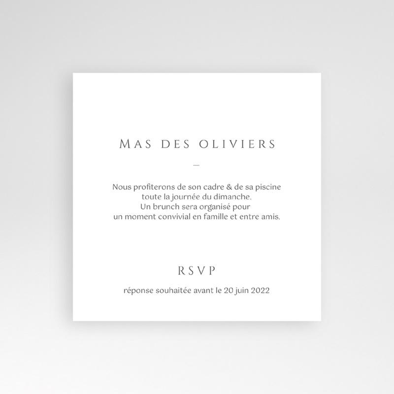 Carte invitation Brunch Provence Champêtre, Brunch pas cher