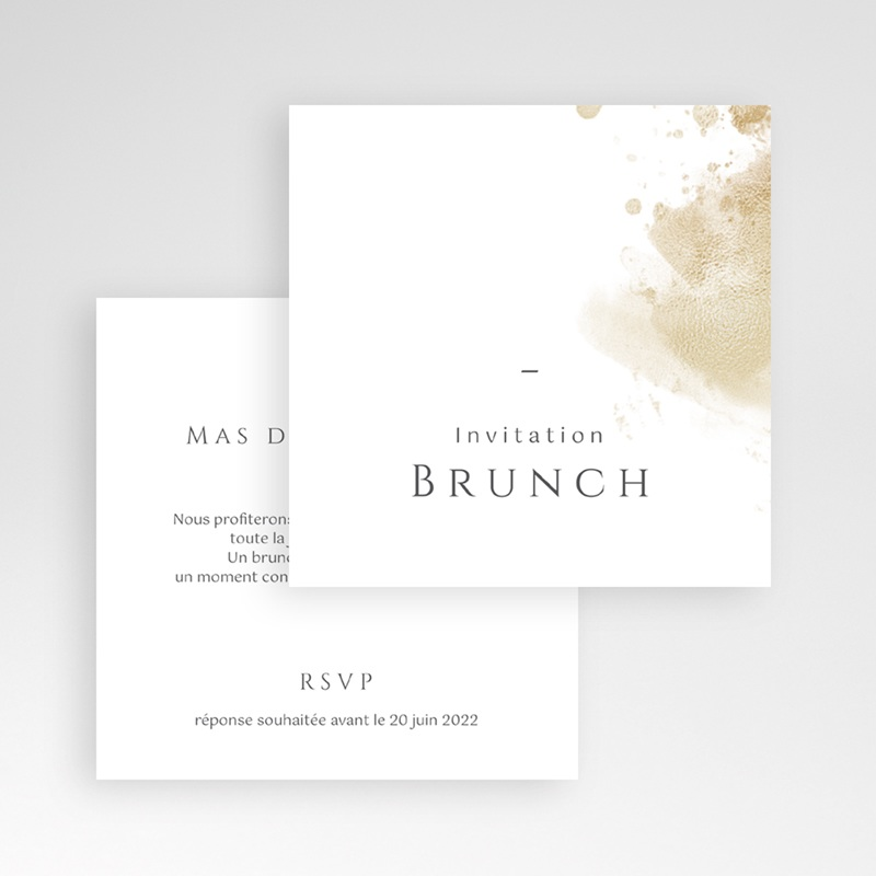 Carte invitation Brunch Provence Champêtre, Brunch gratuit